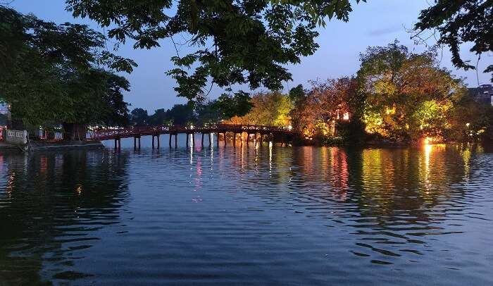 At the Hoan Kiem Lake