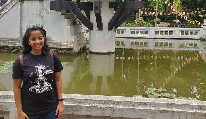 At the One Pillar Pagoda(Hanoi)