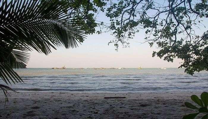 Bidadari Island Beach