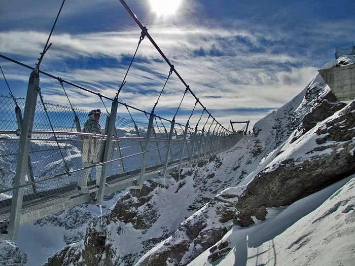 Cliff walk in Switzerland