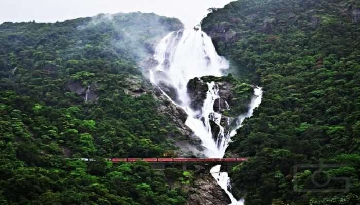Amazing Dudhsagar Waterfalls