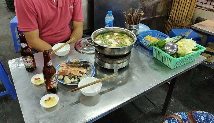 Eating Vietnamese Pot