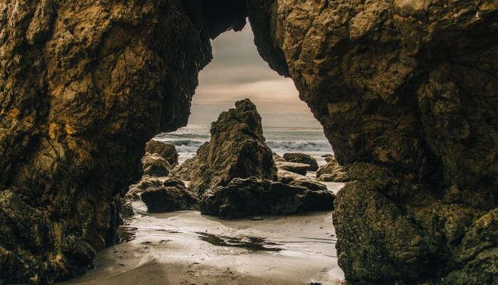 rocks at a beach