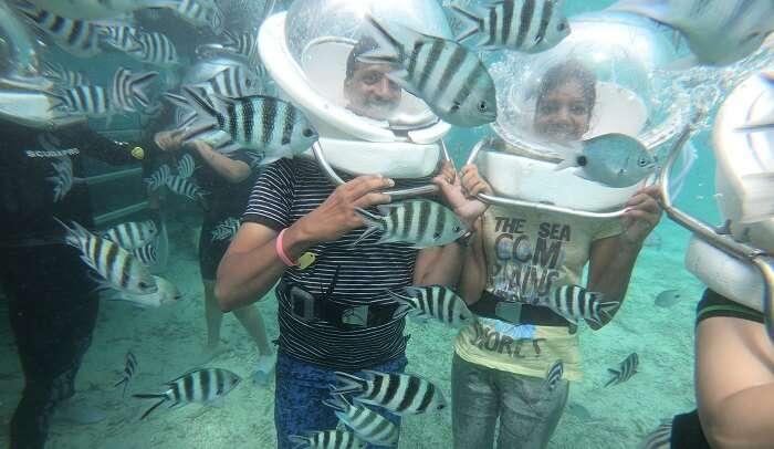 Undersea walk was a memorable event