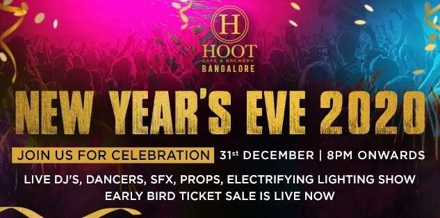 Hoot Cafe And Brewery NYE Party