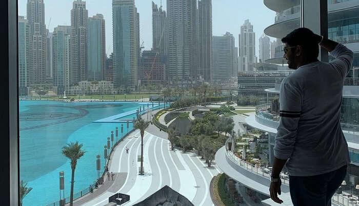 view of the Dubai skycraper's building