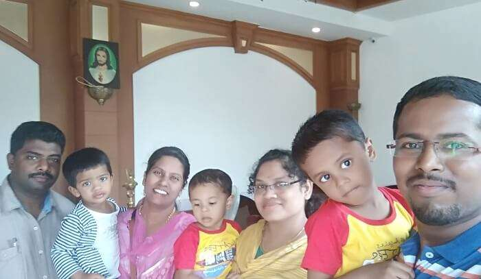 enjoying the family time