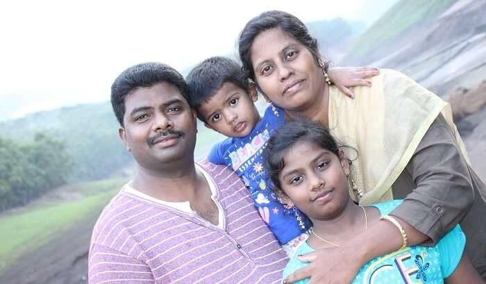 enjoying the family time on hilly area