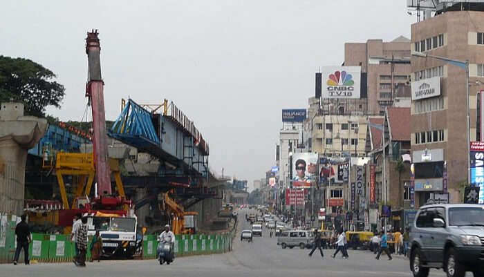 Famous MG Road in Bangalore