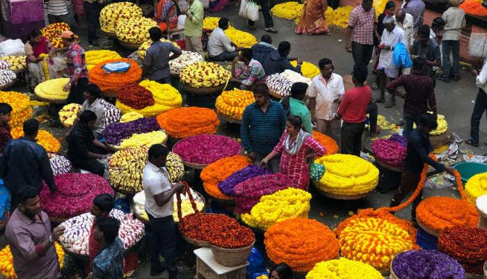 Fresh Flowers Market in Bangalore