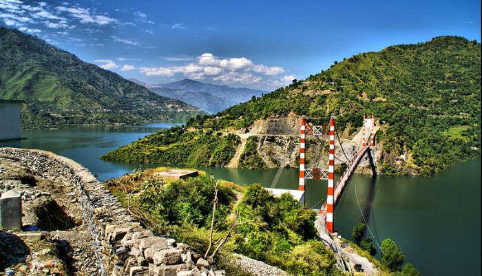 Tehri Dam in Kanatal