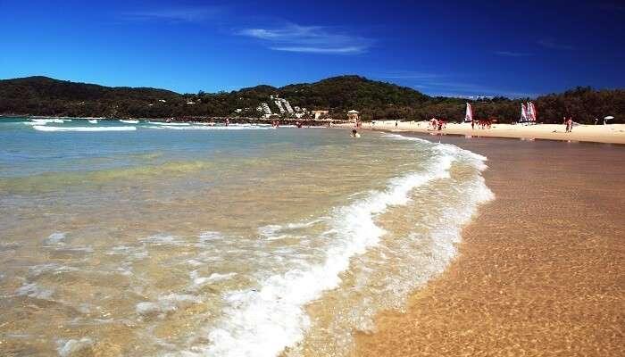 A beach town