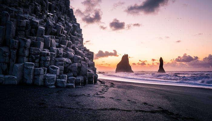 Sunrise in Reynisfjara Beach