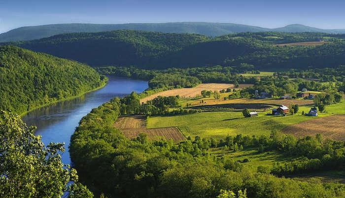Beautiful River in USA