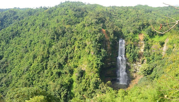 Vantawng Falls in Mizoram