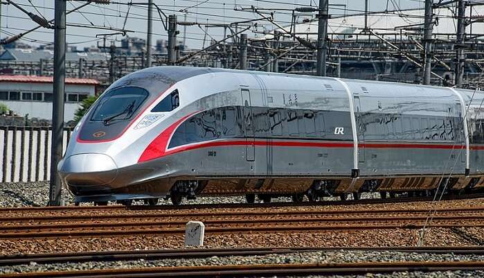 The newly developed Maglev train will run at a speed of 200 kmph