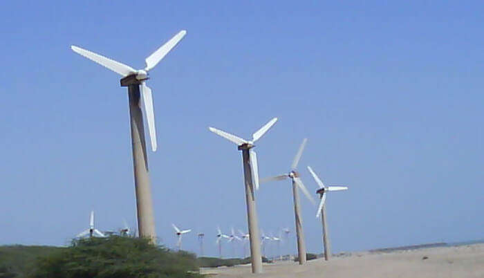 Windfarm Beach in Mandvi