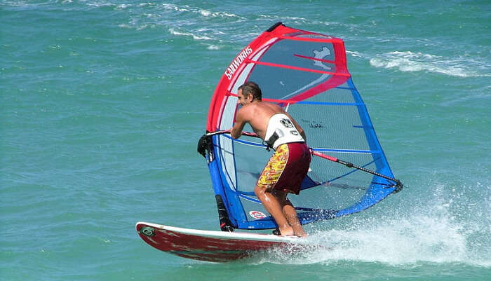 Enjoying Windsurfing in Phuket