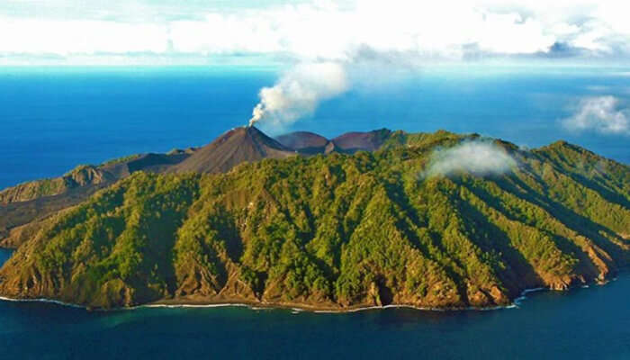 Witness an Active Volcano At the Barren Island