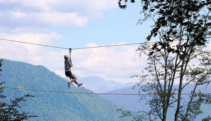 Enjoying Ziplining in Phuket