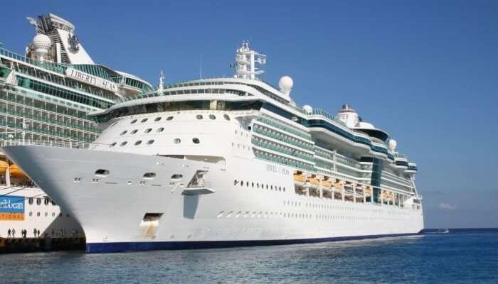 cruise sailing through