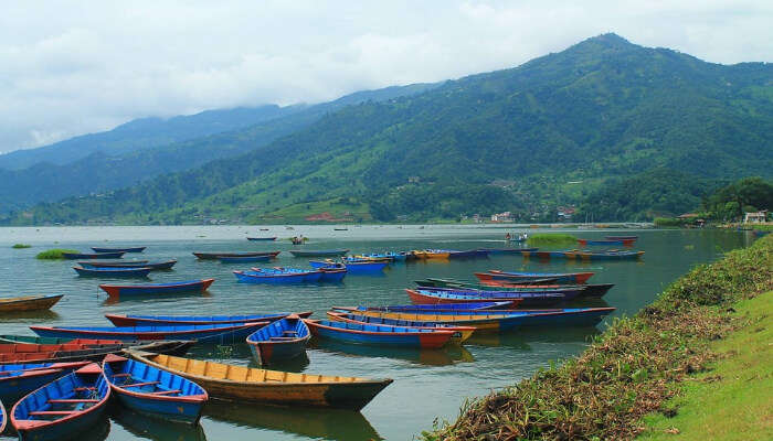Colorful Boats In a Lake
