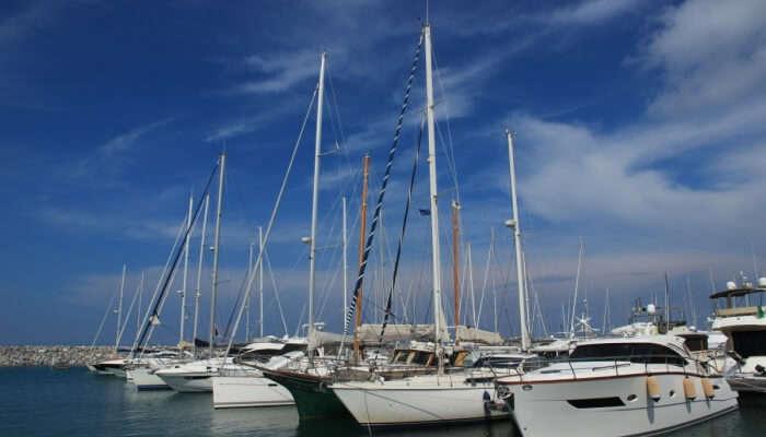 boats at a harbor