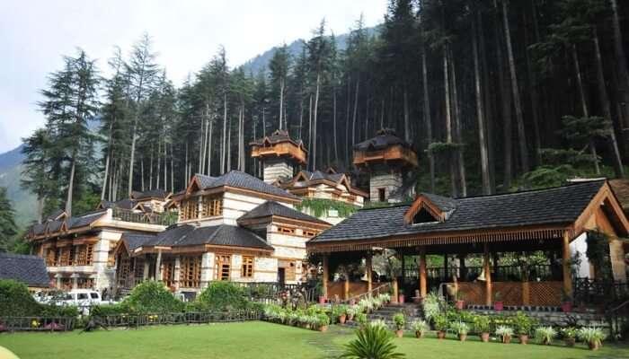 resort in greenery