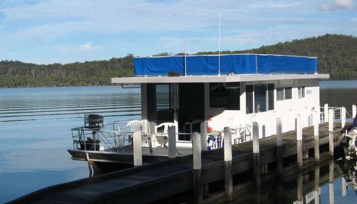 houseboat at harbor