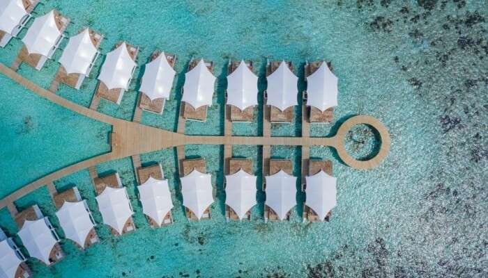 aerial view of a resort