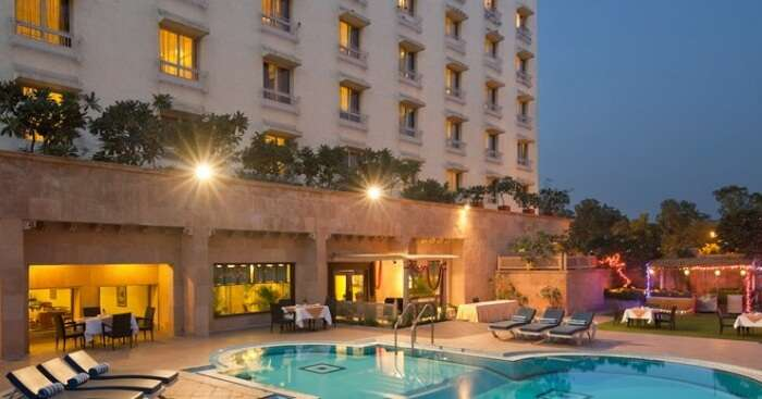 pool in a resort