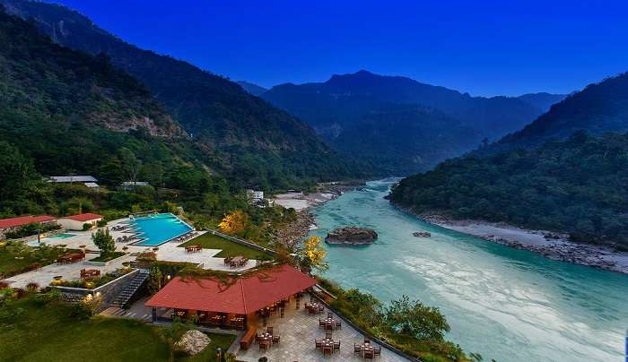 enjoy a breathtaking view of the ganga river