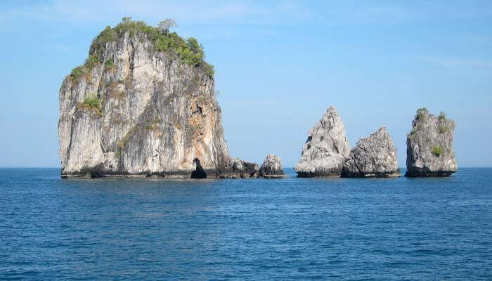 western part of Phuket Island is facing the Andaman Se
