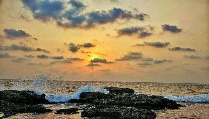 sunset view at Anjuna Beach