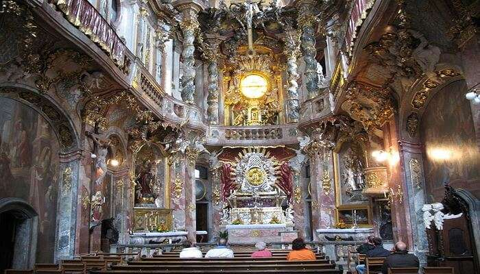 Asam Church is situated right in the heart of the city of Munich