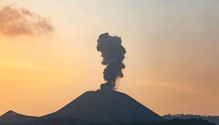 volcano in south-east Asia
