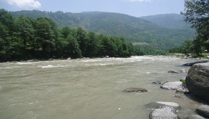 Rafting at riverside, Kullu