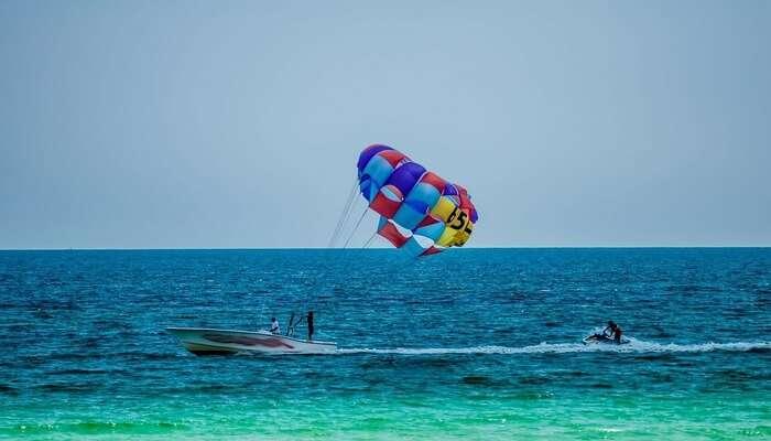 Parasailing In Bogmalo Beach