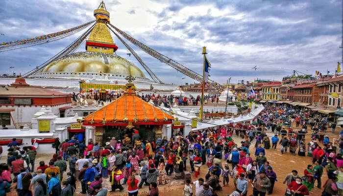 people celebrating buddha jayanti