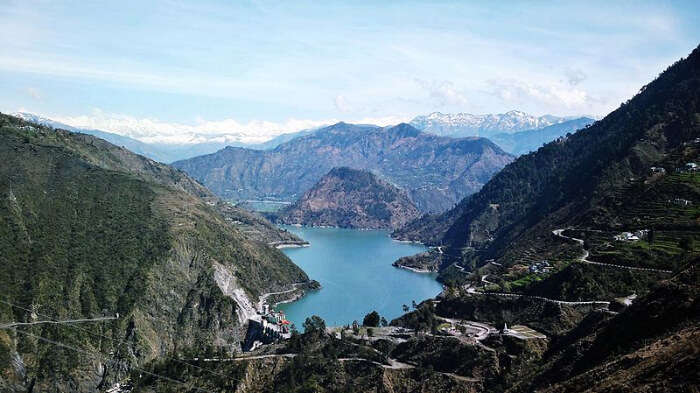Spectacular view of Chamera Lake