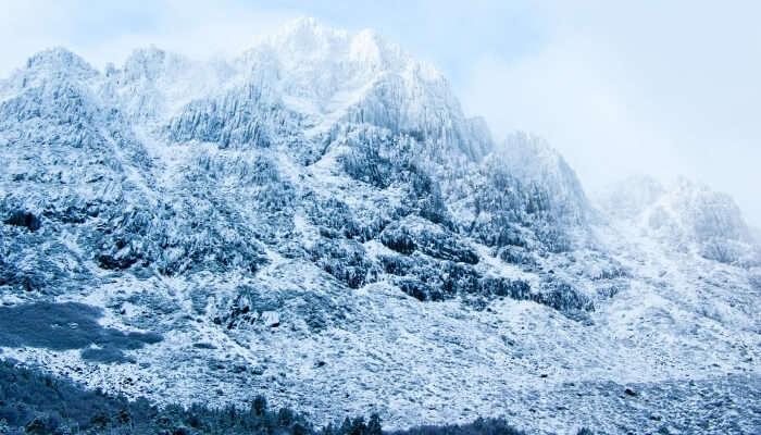 snow-clad mountain