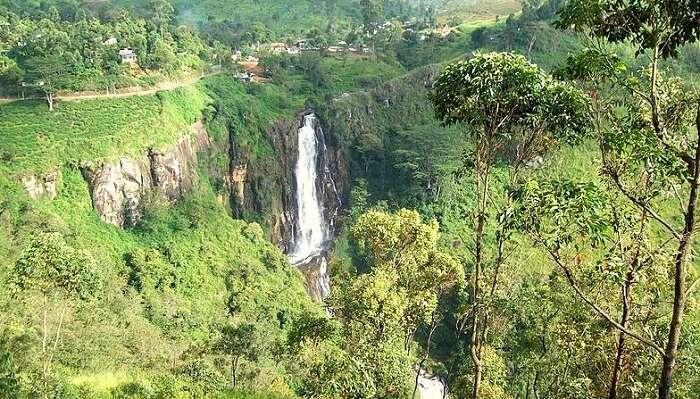 Devon Falls In Nuwara Eliya