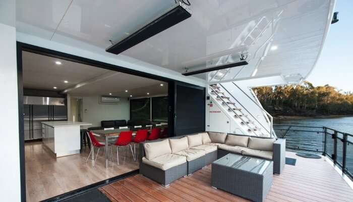 luxury houseboat interiors
