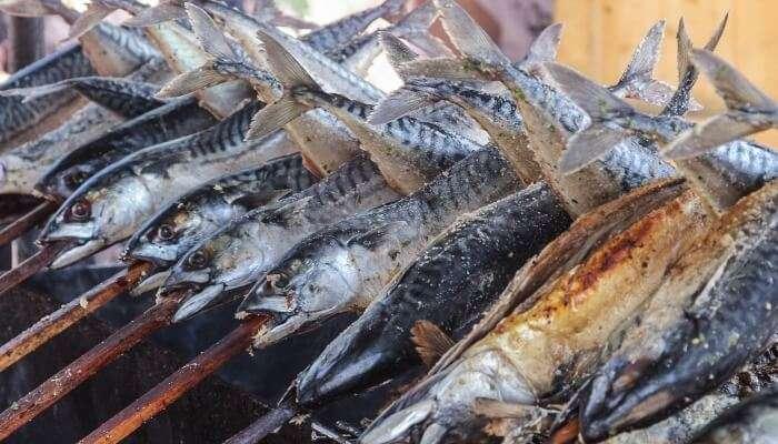 seafood on Port Beach's coast