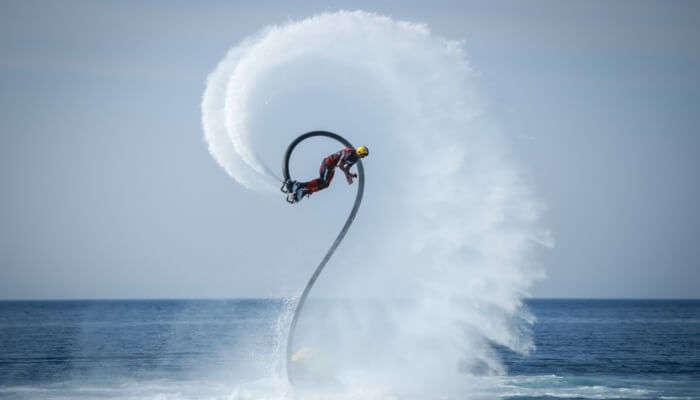 Adventurous Flyboarding In Goa