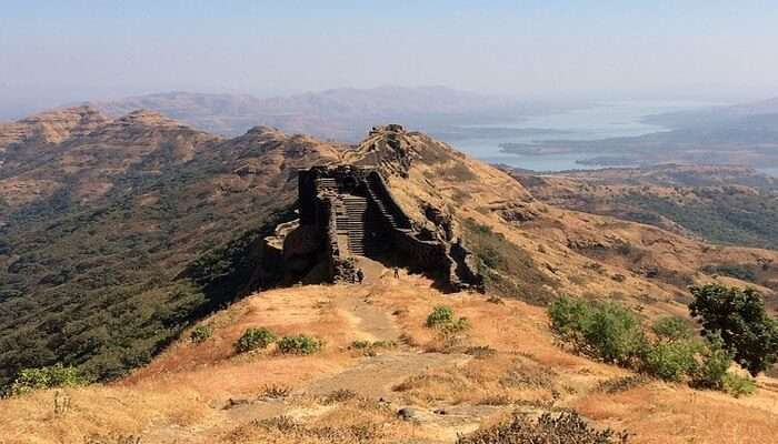 camp in Gorakhgad Fort
