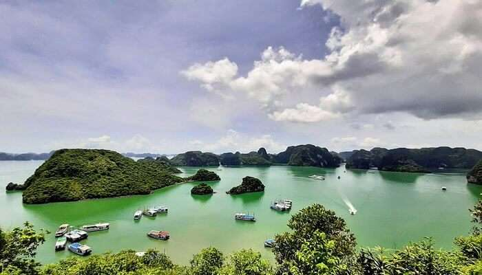 The glowing Halong Bay in Vietnam
