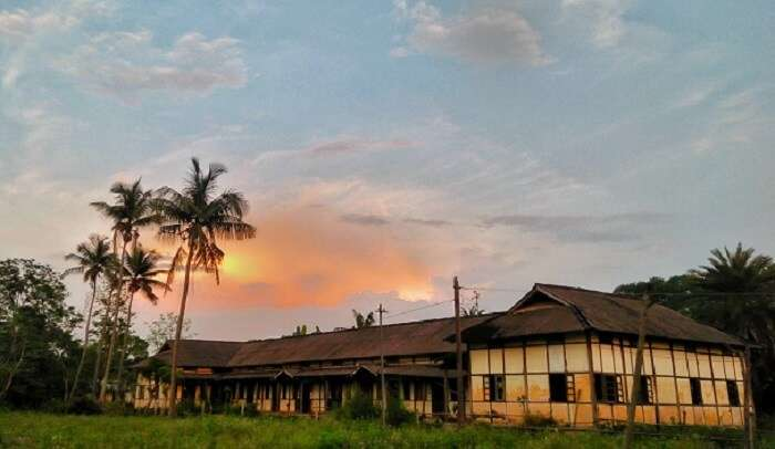 beautifyul view of the small town in Assam