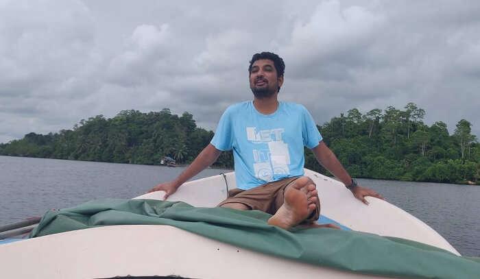 enjoying the time on the island