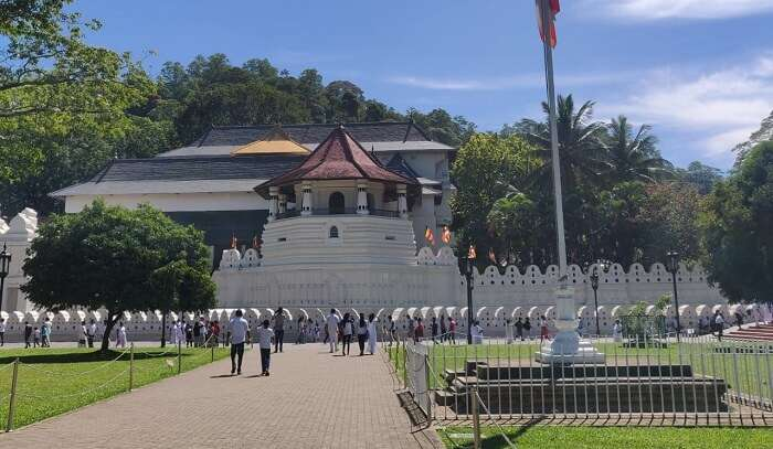 Kandy temple view